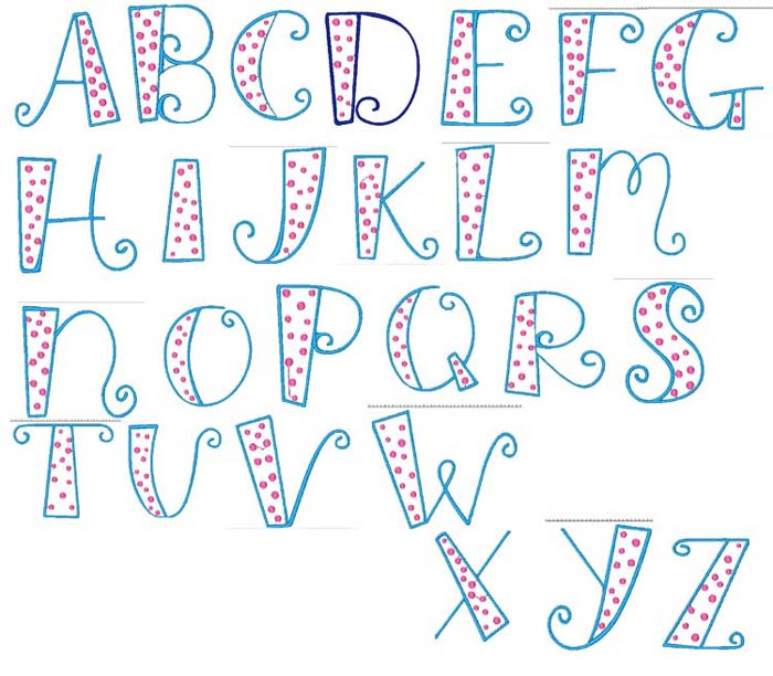 8 Best Images of Printable Letters In Different Fonts