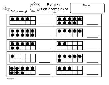 Ten Frame Worksheets Kindergarten - K5 Worksheets