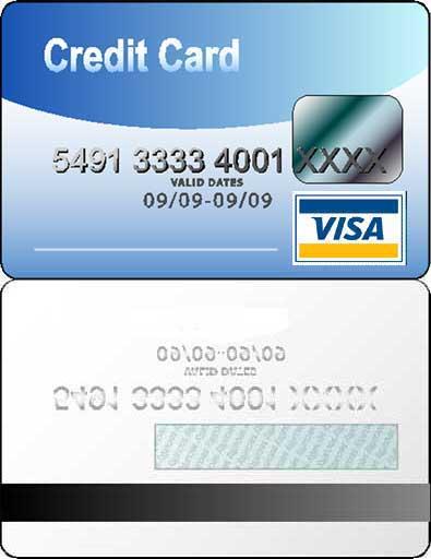 Credit Card Template Printable
