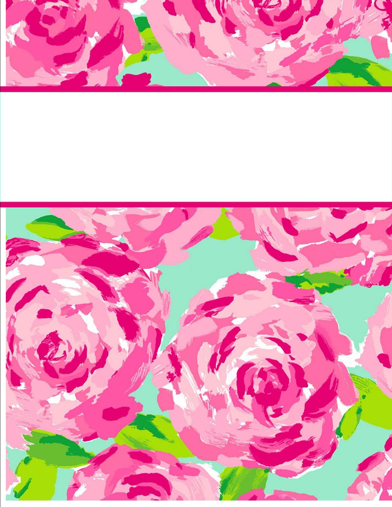5 Images of Lilly Pulitzer Binder Cover Monograms Printables
