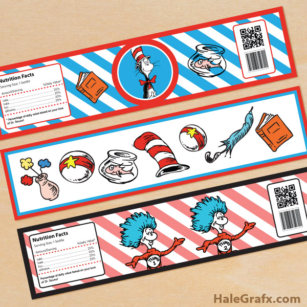 7 Images of Dr. Seuss Free Printable Water Bottle Labels