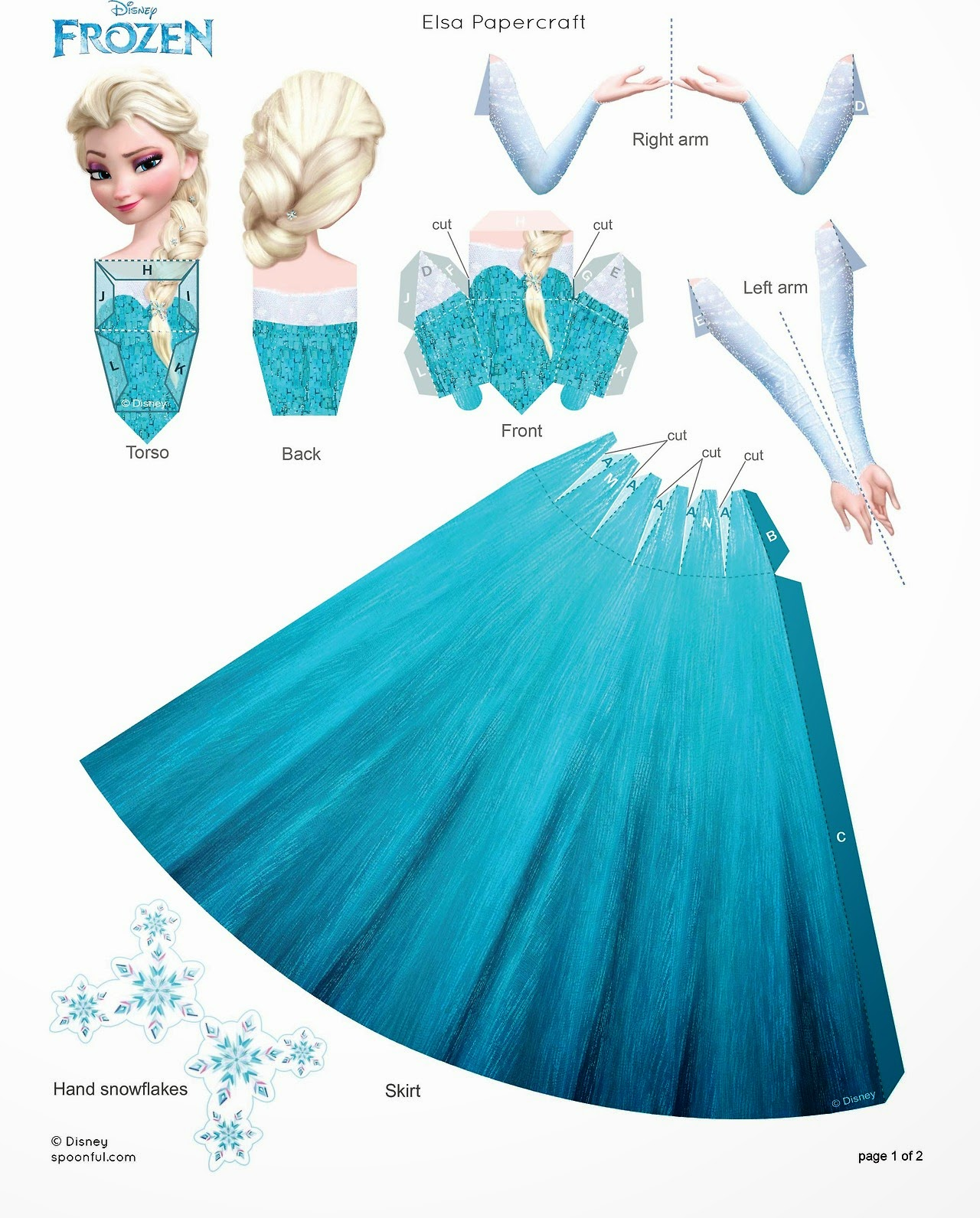 5 Images of Frozen Paper Dolls Printable