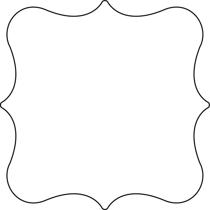 Bracket label shape templates