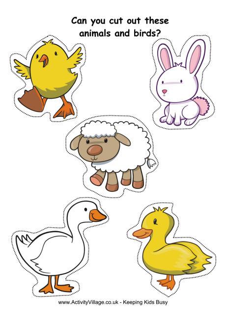 6 Images of Printable Farm Animal Cutouts