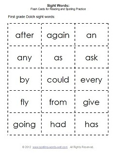5 Images of Sight Words Flash Cards Free Printable For First Graders