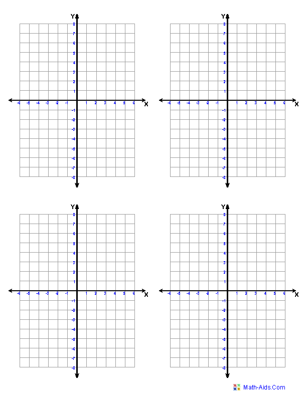 5 Images of Printable Coordinate Graphs For Math
