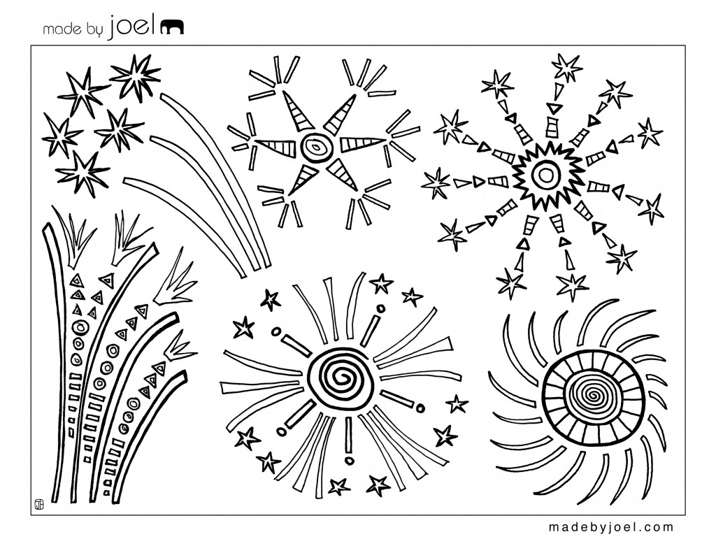 8 Images of Free Printable Fourth Of July Drawings