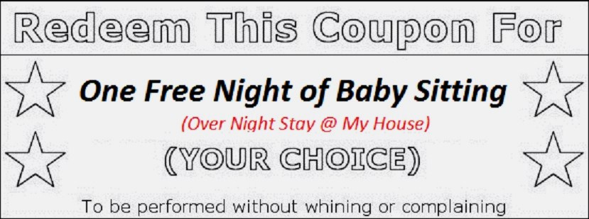 9 best images of printable babysitting voucher free babysitting coupon template free. Black Bedroom Furniture Sets. Home Design Ideas