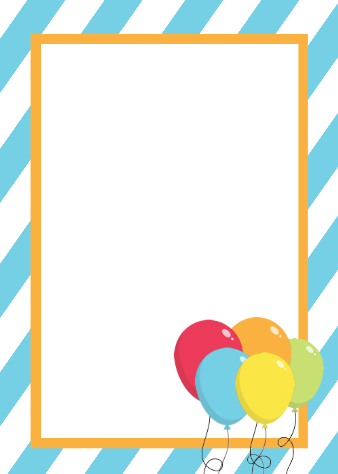 Free Blank Birthday Invitations Template