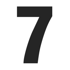Free Large Printable Numbers 7