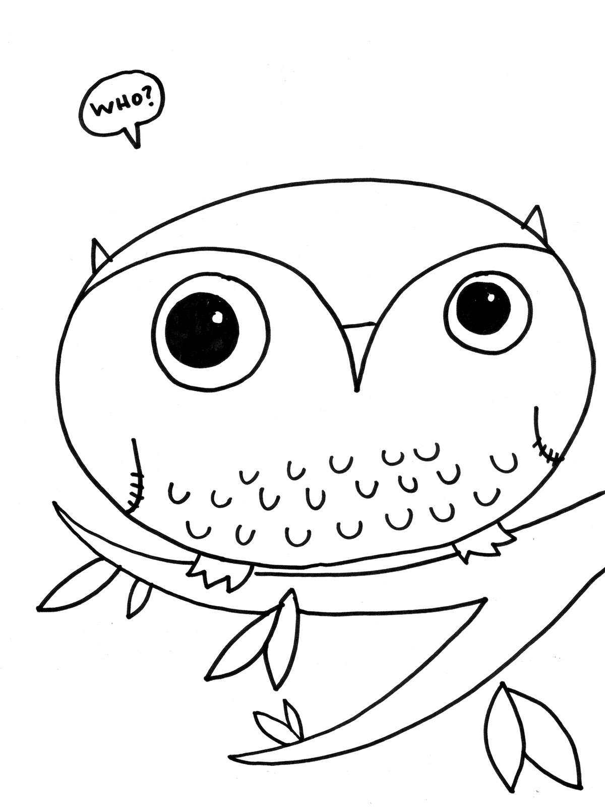 4 Images of Free Printable Owl Coloring Pages For Kids