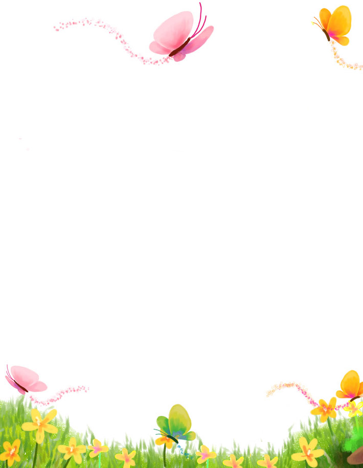 5 Images of Free Butterfly Printable Stationary