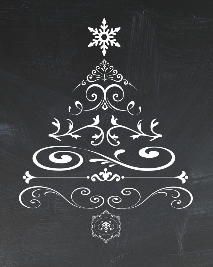 Printable Chalkboard Christmas Tree