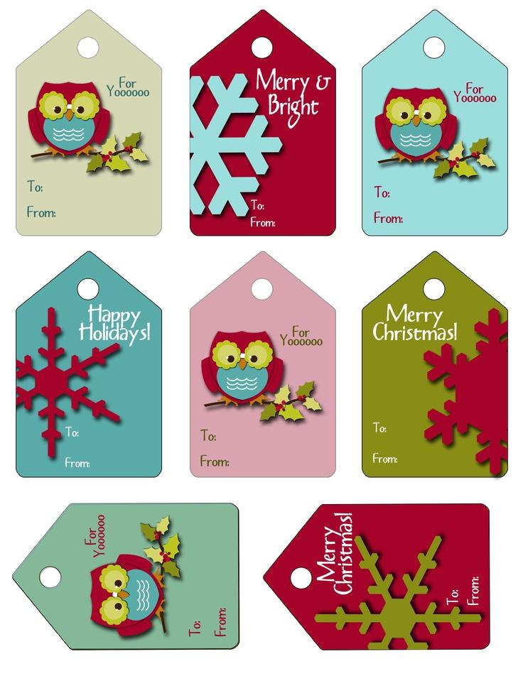 Printable Christmas Gift Tags Pinterest
