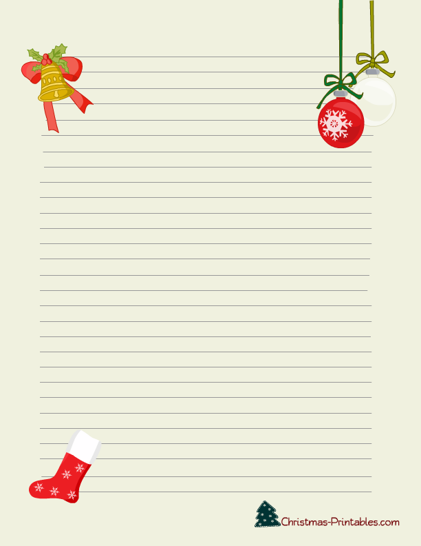7 Images of Printable Holiday Stationery Designs