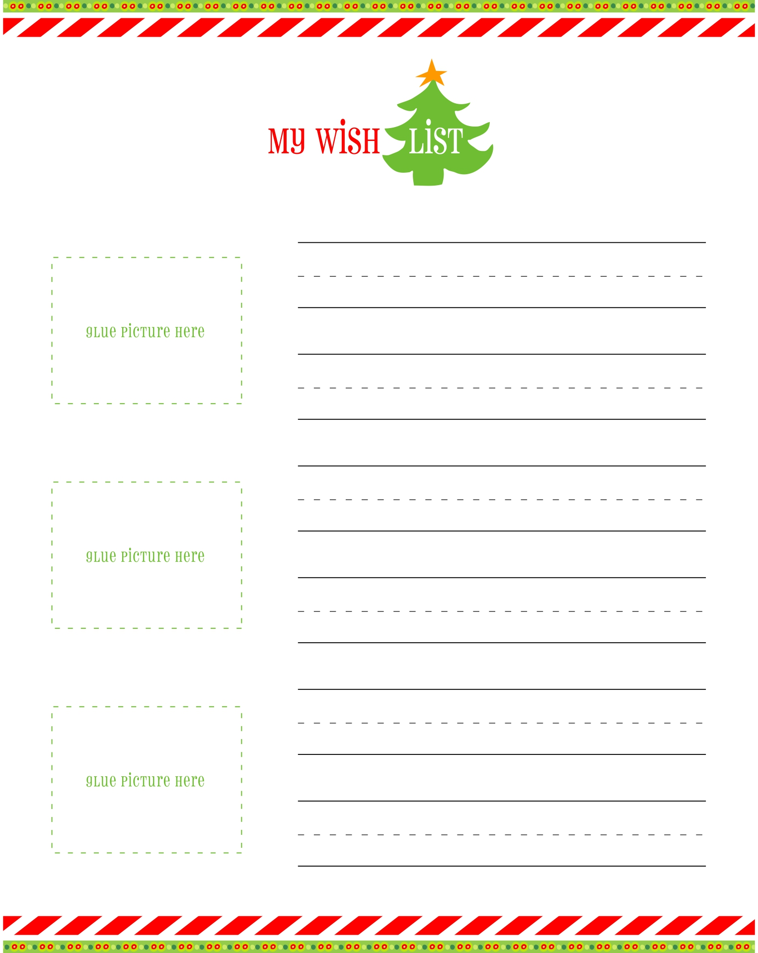 Printable Christmas Wish List