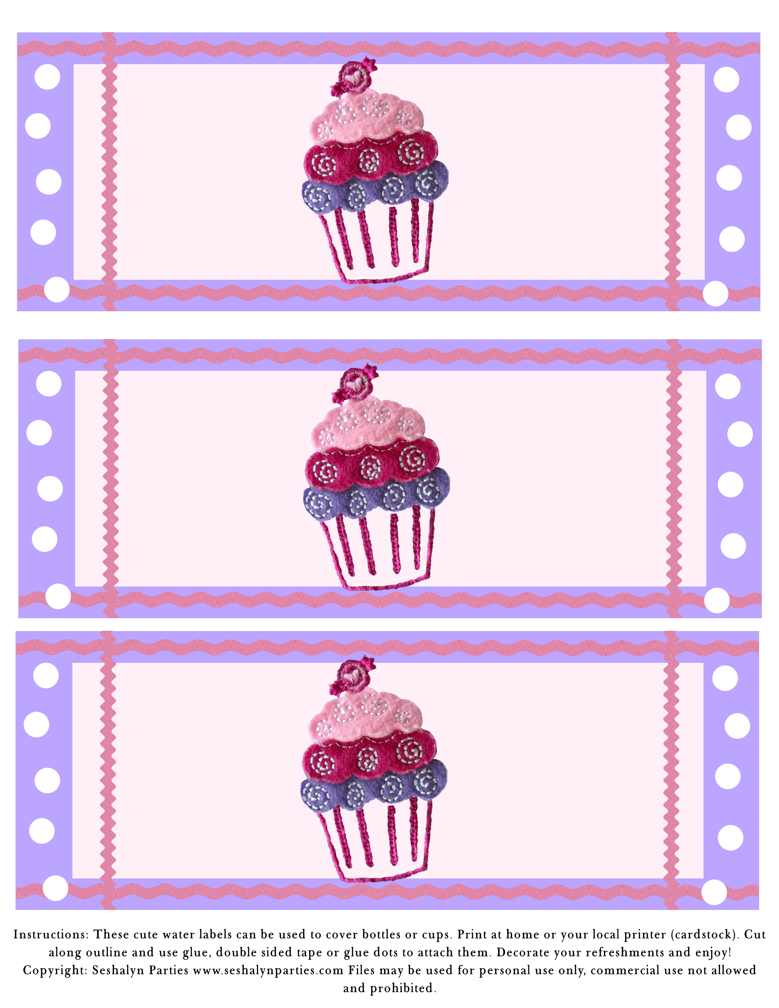 6 Images of Cupcake Theme Party Free Printables