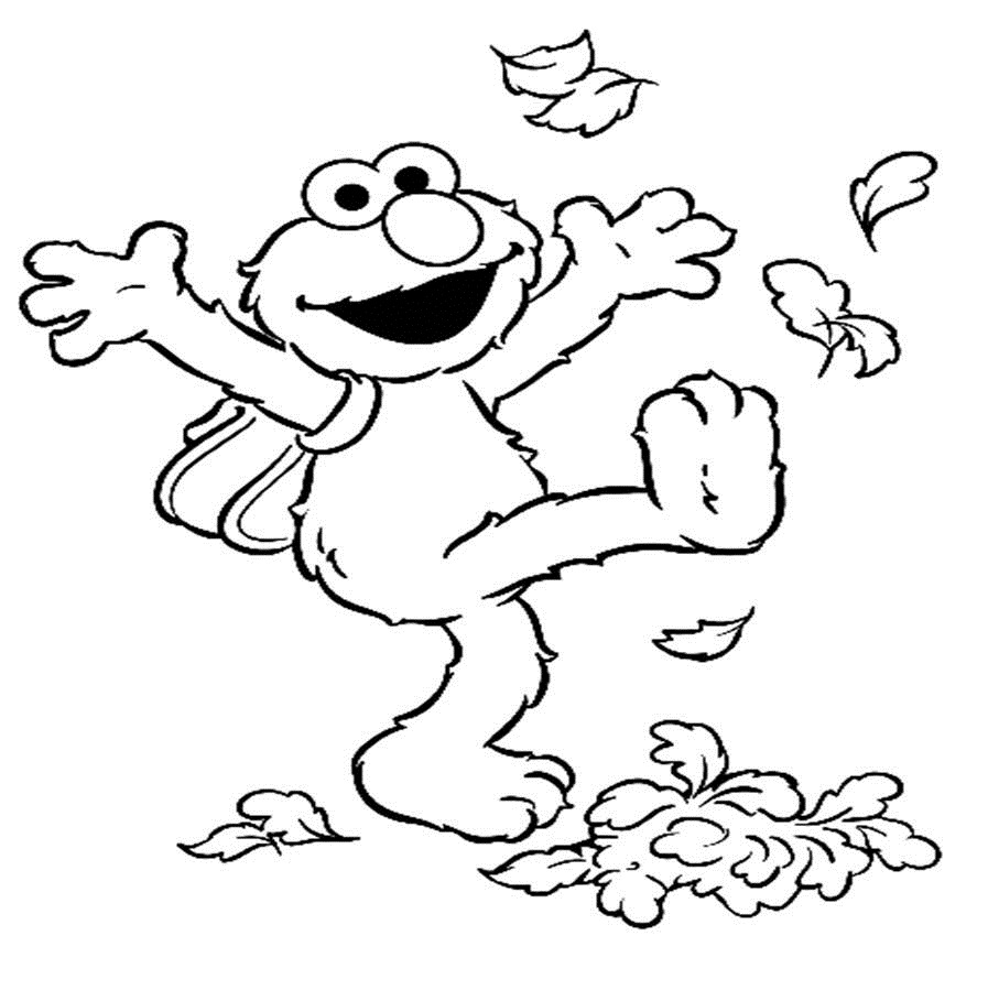 5 Images of Printable Elmo Coloring Pages
