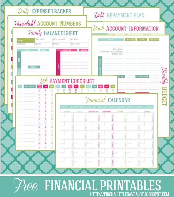 5 Images of Free Printable Financial Budget Worksheet