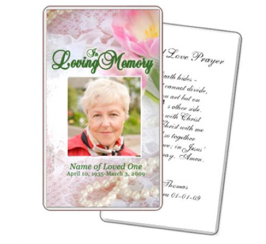8 best images of free printable memorial prayer cards for Funeral memory cards free templates