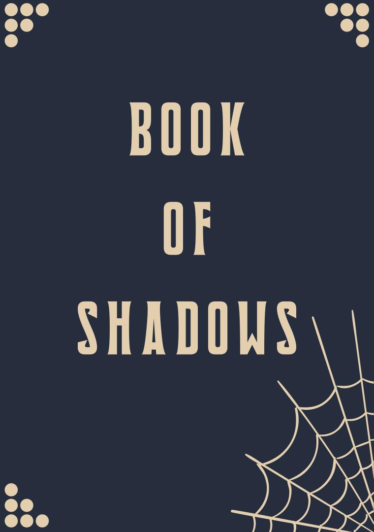 Printable Halloween Spells Book Cover