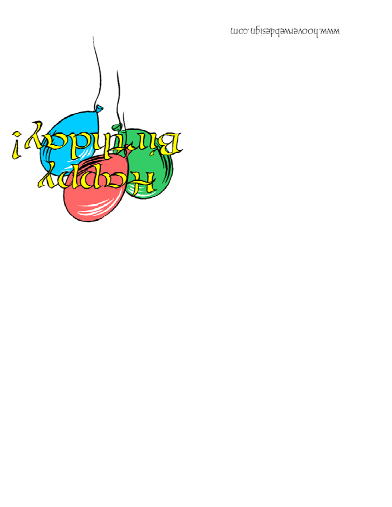 Free Printable Happy Birthday Card Template
