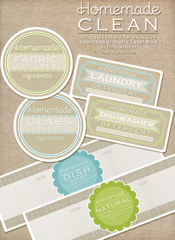4 Images of Cleaning Labels Free Printables