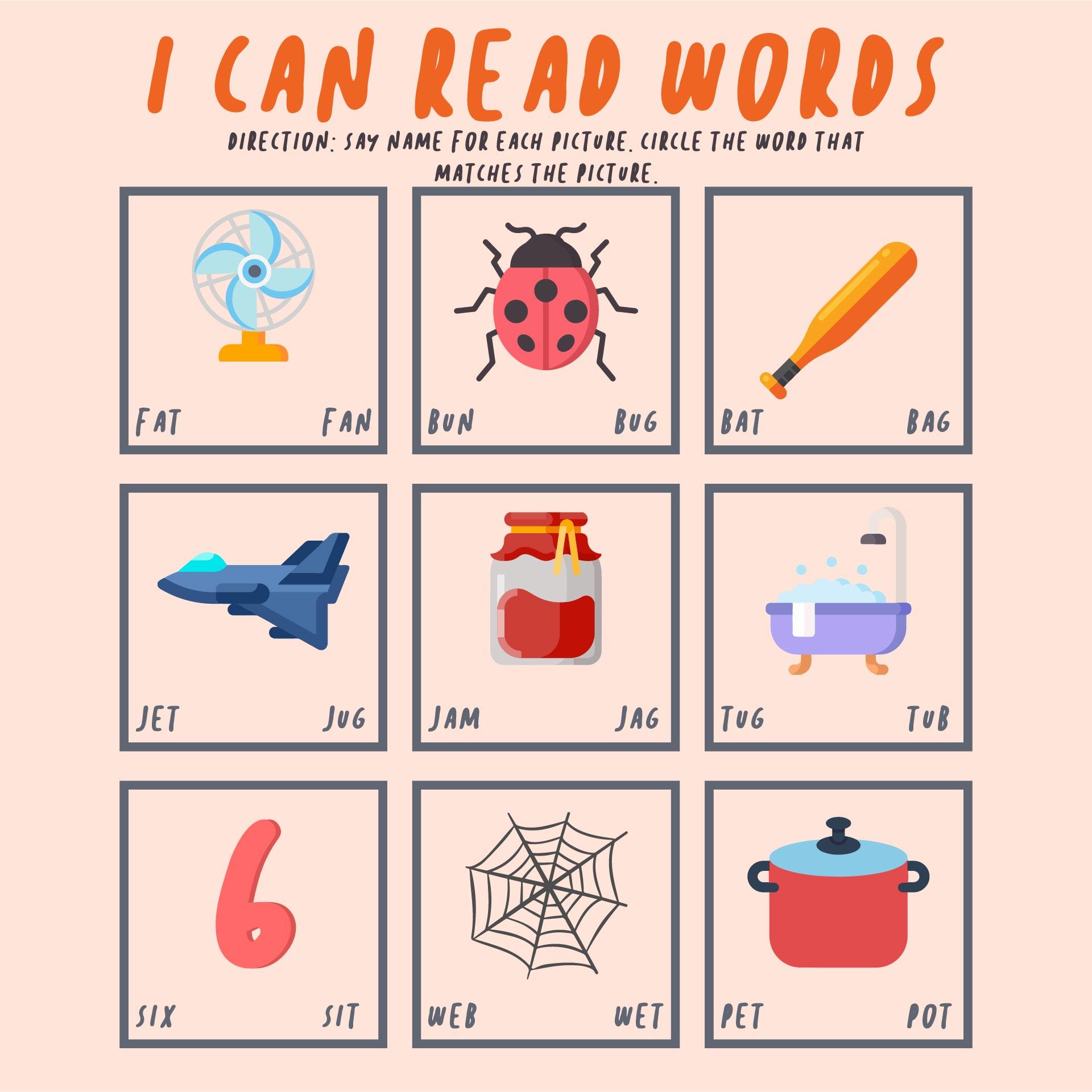 Printable Kindergarten Reading Worksheets