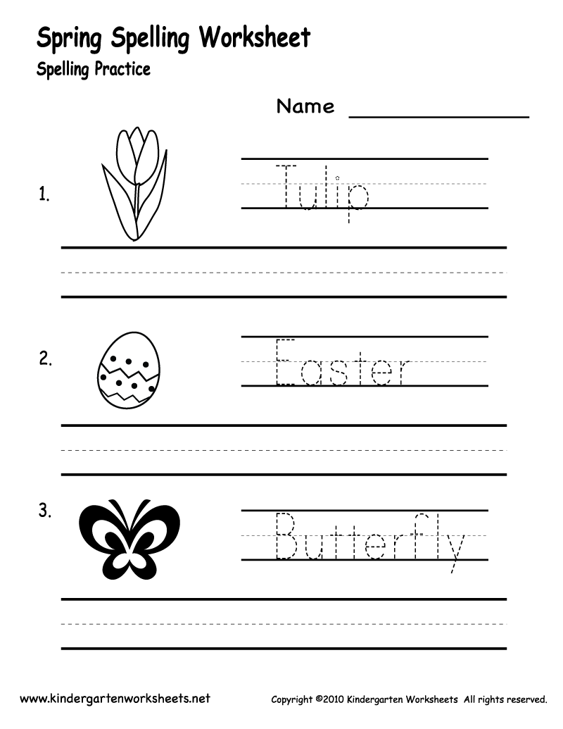 6 Images of Free Printable Spring Worksheets