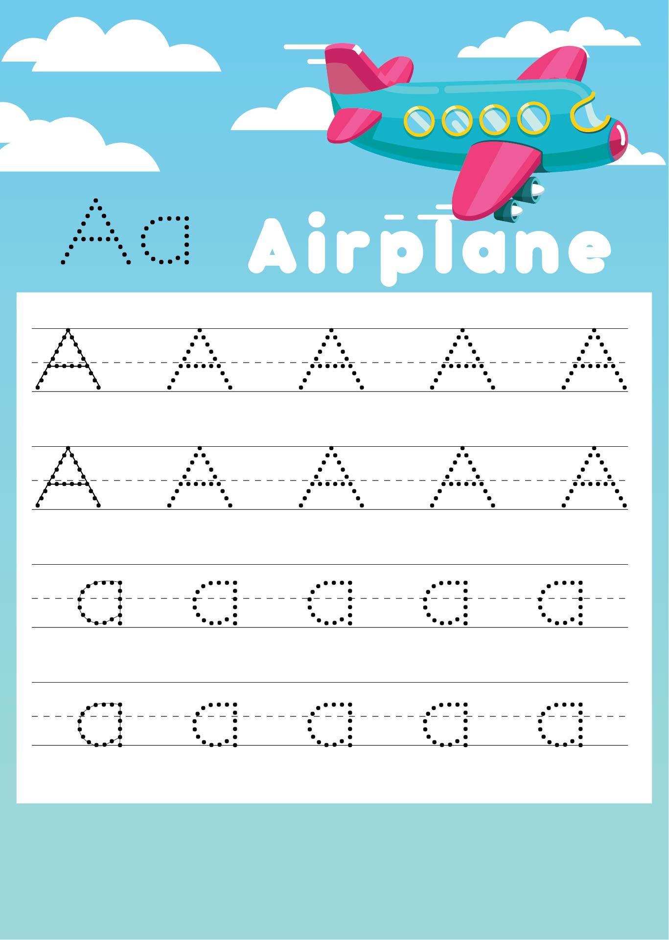 Printable Letter AA Worksheets