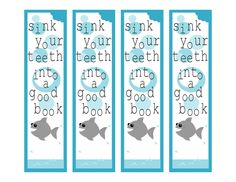 7 Images of Free Printable Ocean Bookmarks
