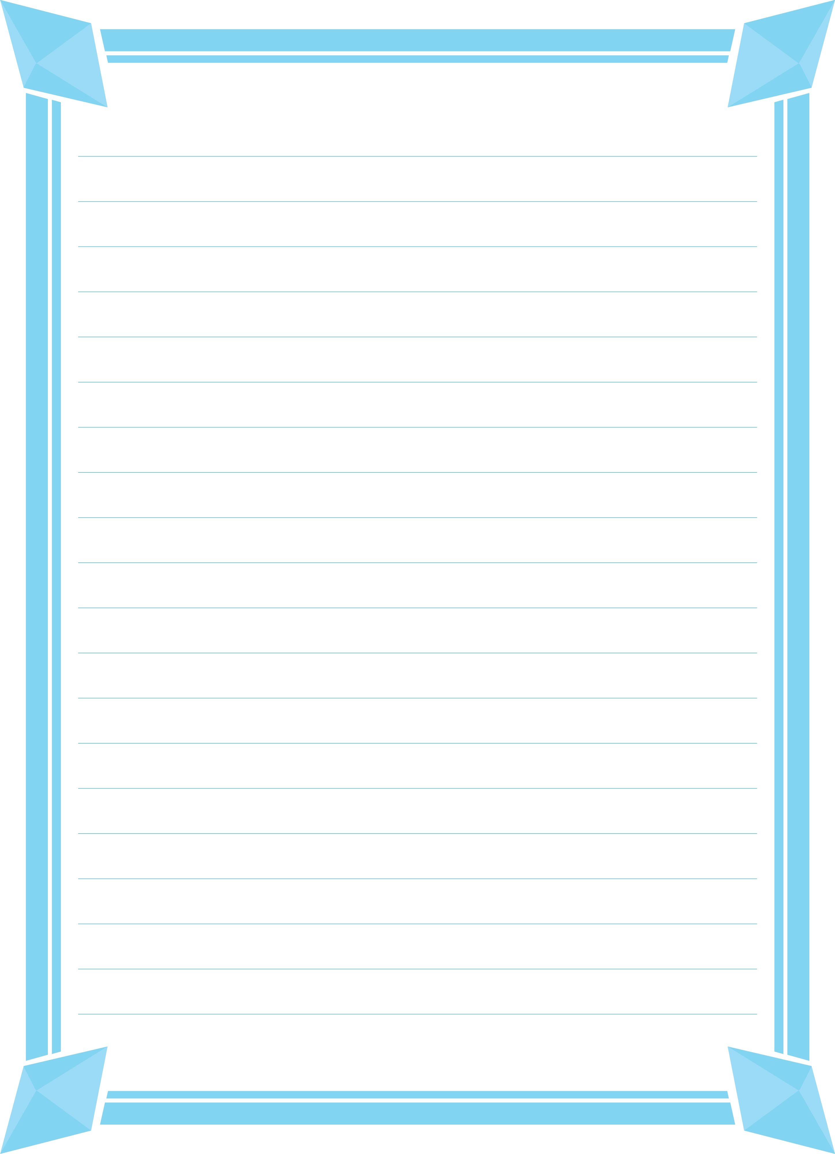 Printable Lined Paper with Borders