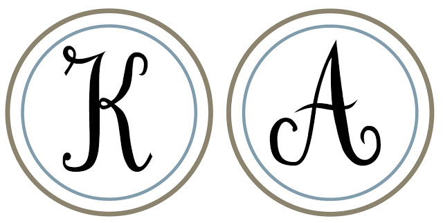 4 Images of Circle Letters Printable Monogram