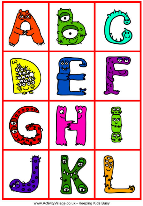 8 Images of Printable Monster Letters