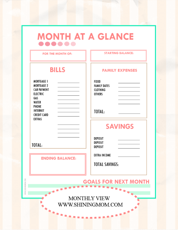 Best Images of Month At A Glance Printable - Blank Month at a Glance ...