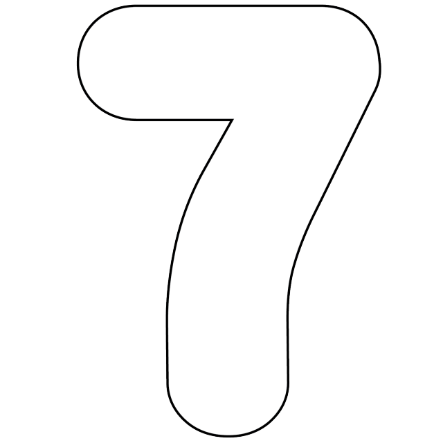 6 Images of Printable Number 7