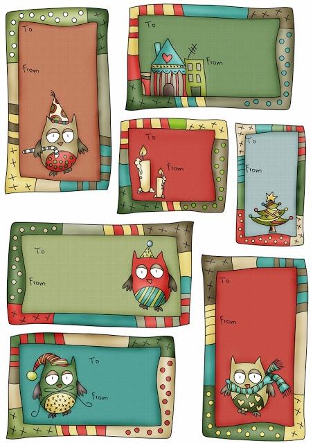 5 Images of Christmas Gift Tags Free Printable Owls