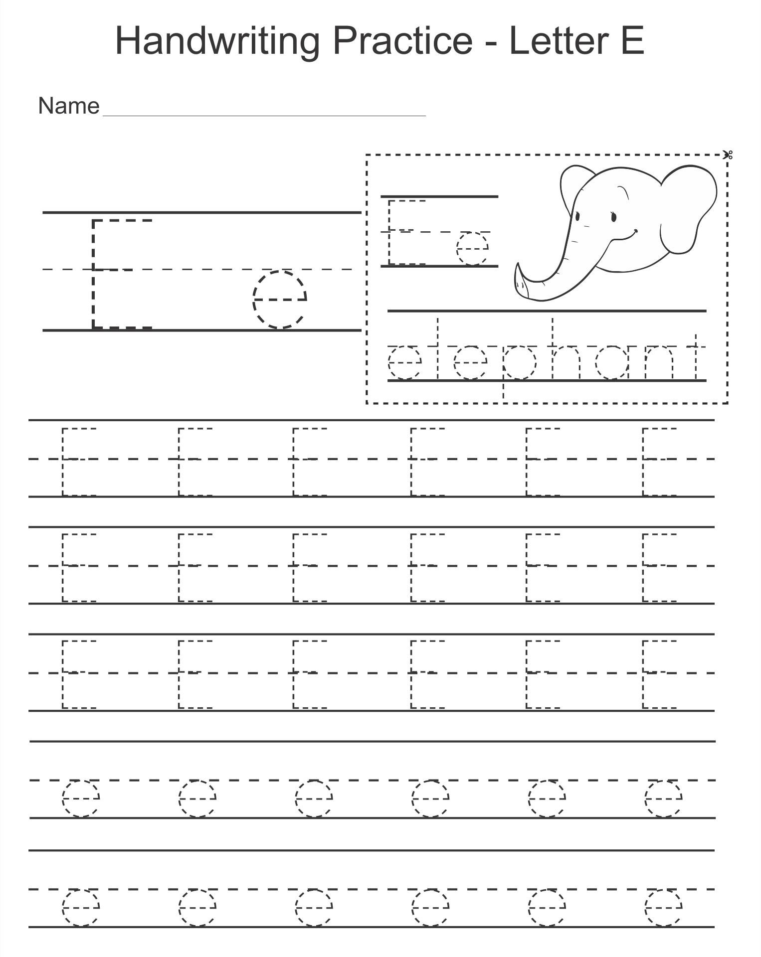 Printable Preschool Worksheets Letter E