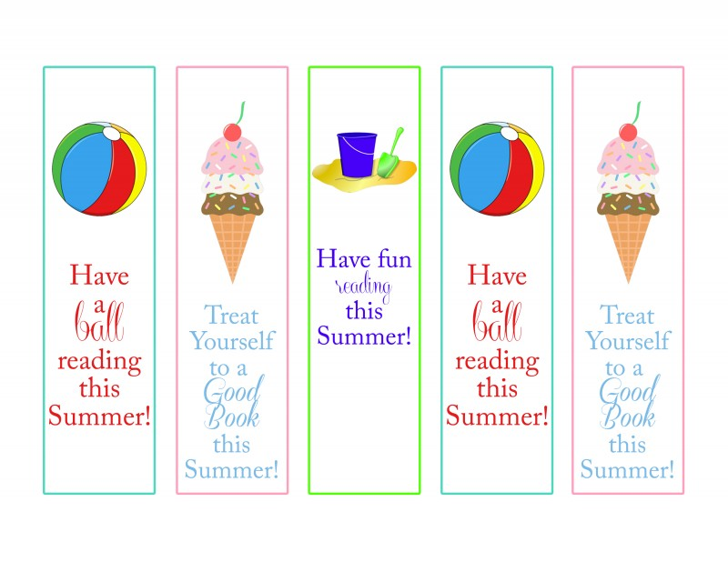9 Images of Have A Great Printable Summer Bookmarks