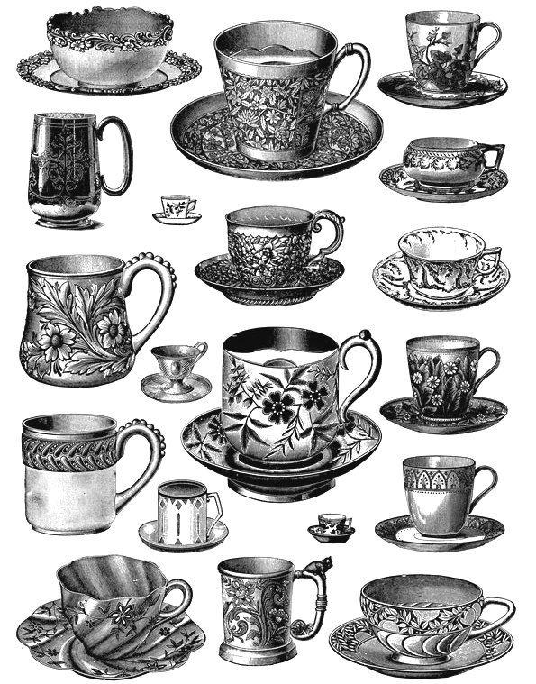 Free Printable Tea Cup Clip Art