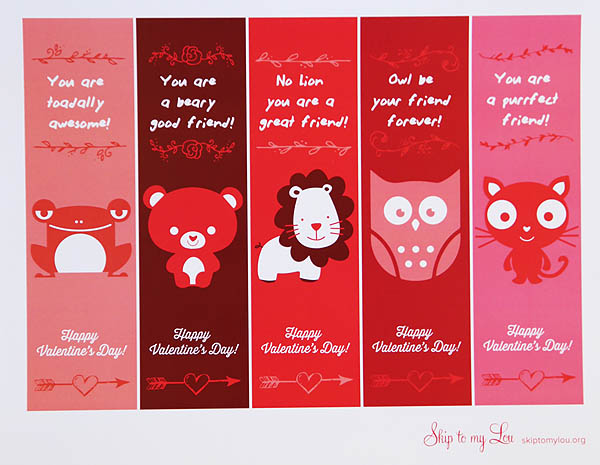 Free Printable Valentine Bookmarks