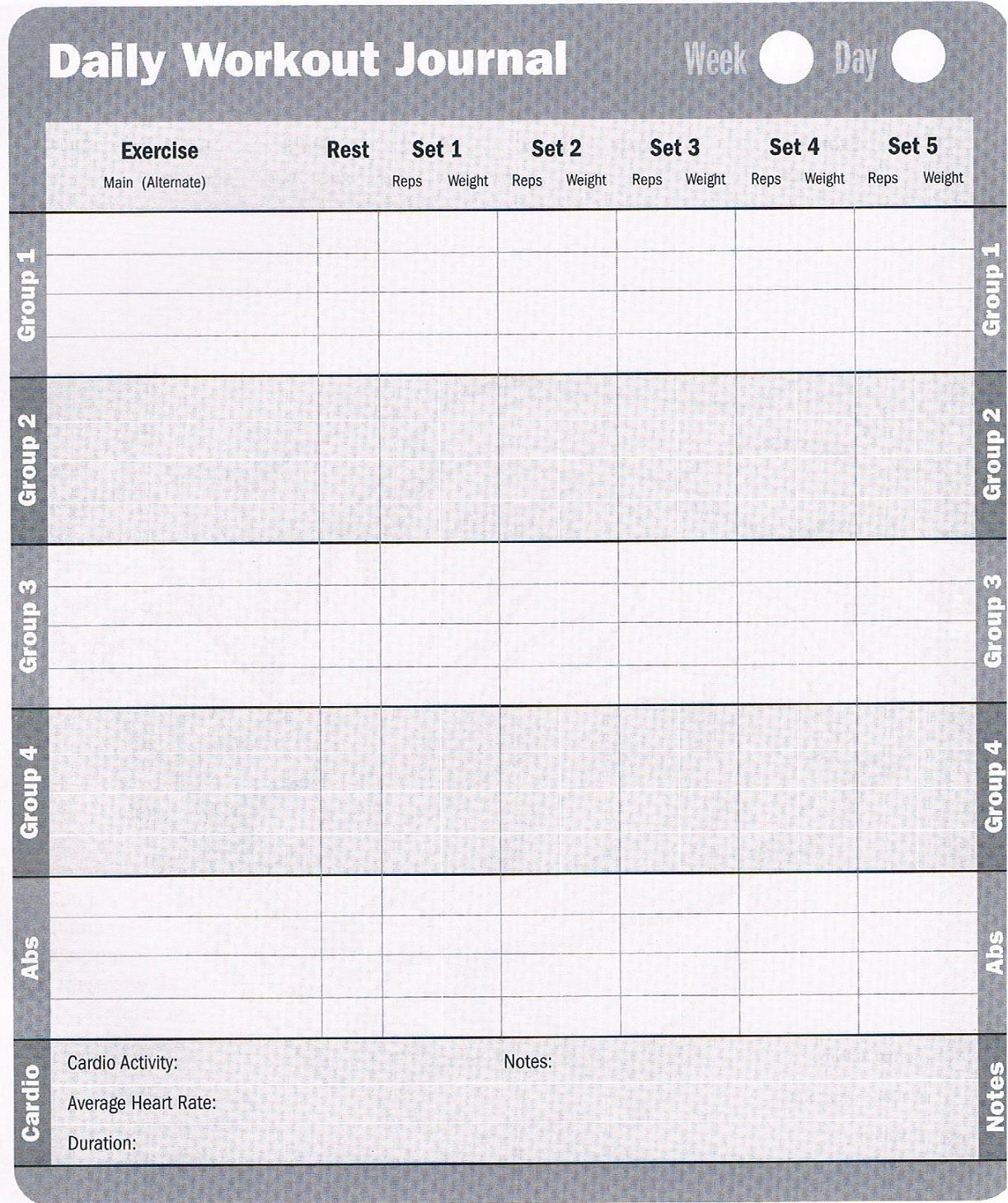 6 Images of Free Printable Exercise Logs Journals