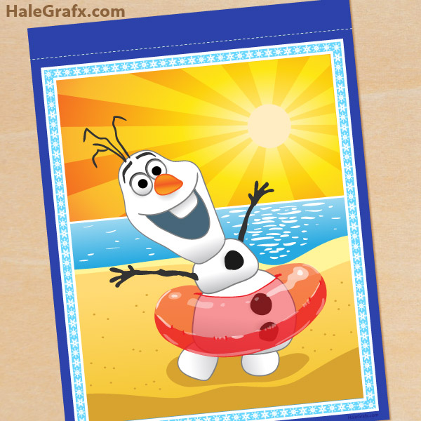 5 Images of Olaf Summer Printable Happy Birthday