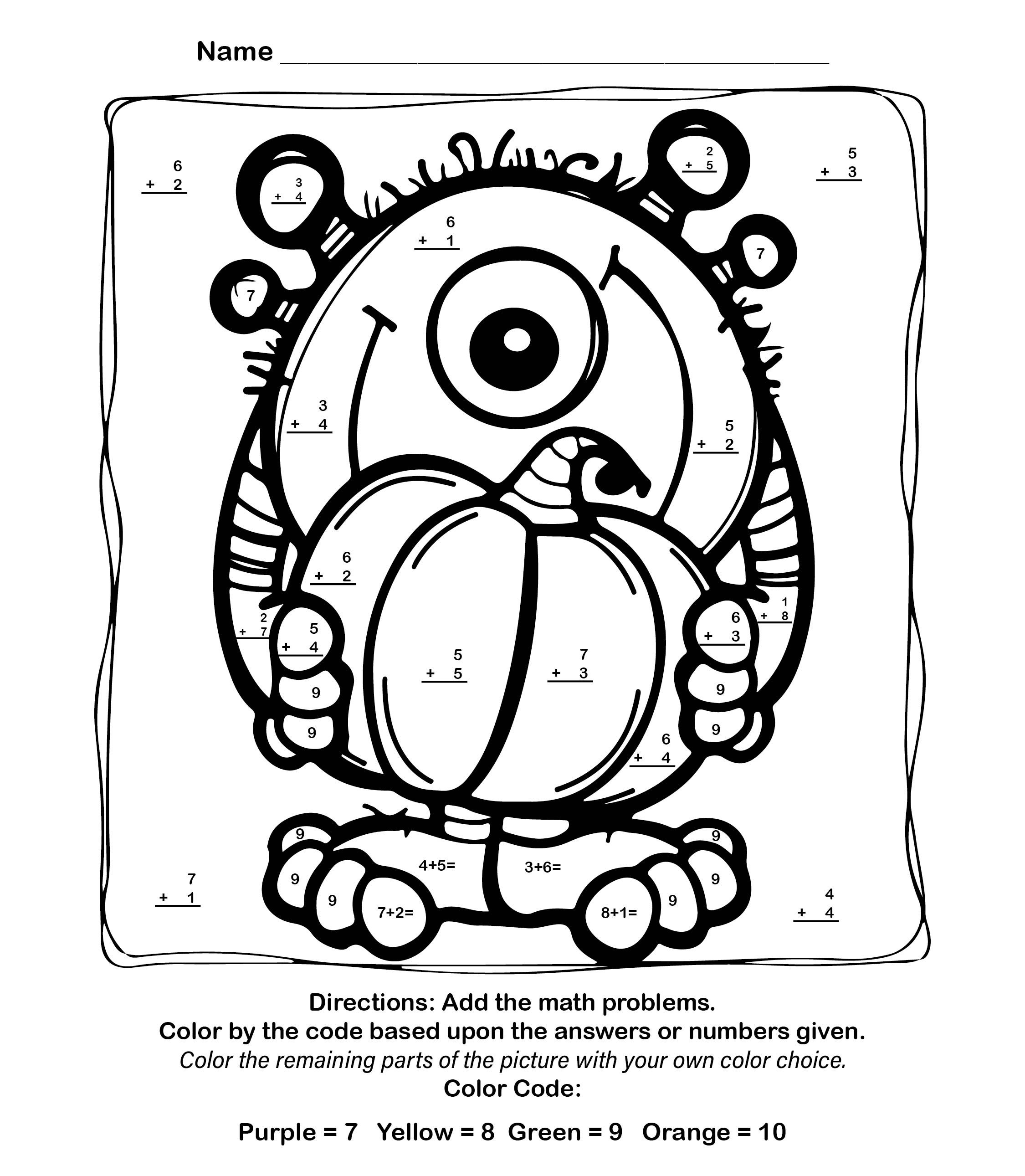 Number Names Worksheets : halloween activities sheets ~ Free ...