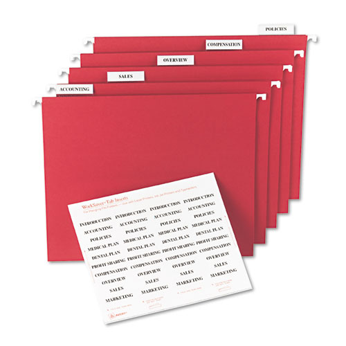 6 Images of Printable File Tab Inserts