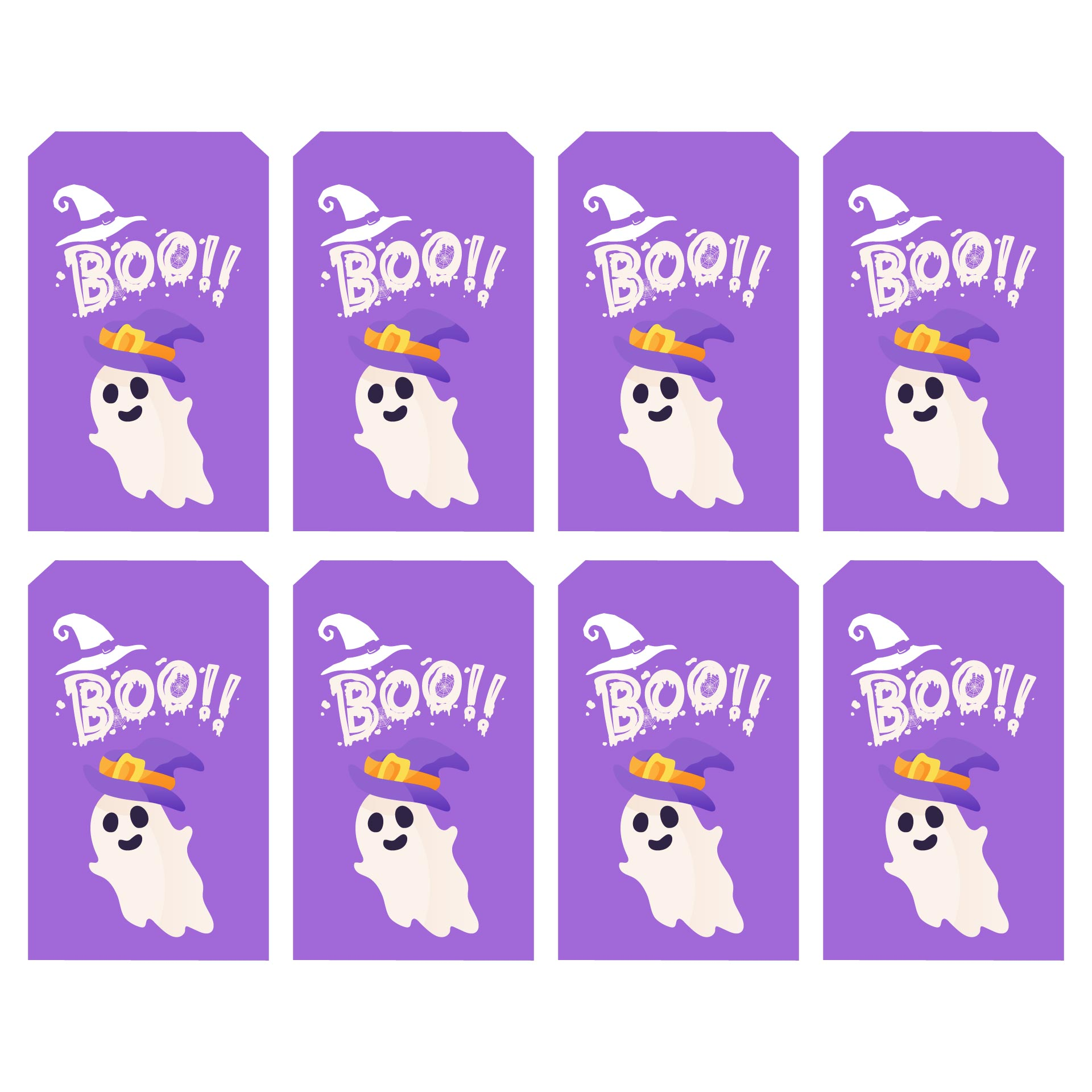 4 Images of Happy Halloween Tags Printable Free