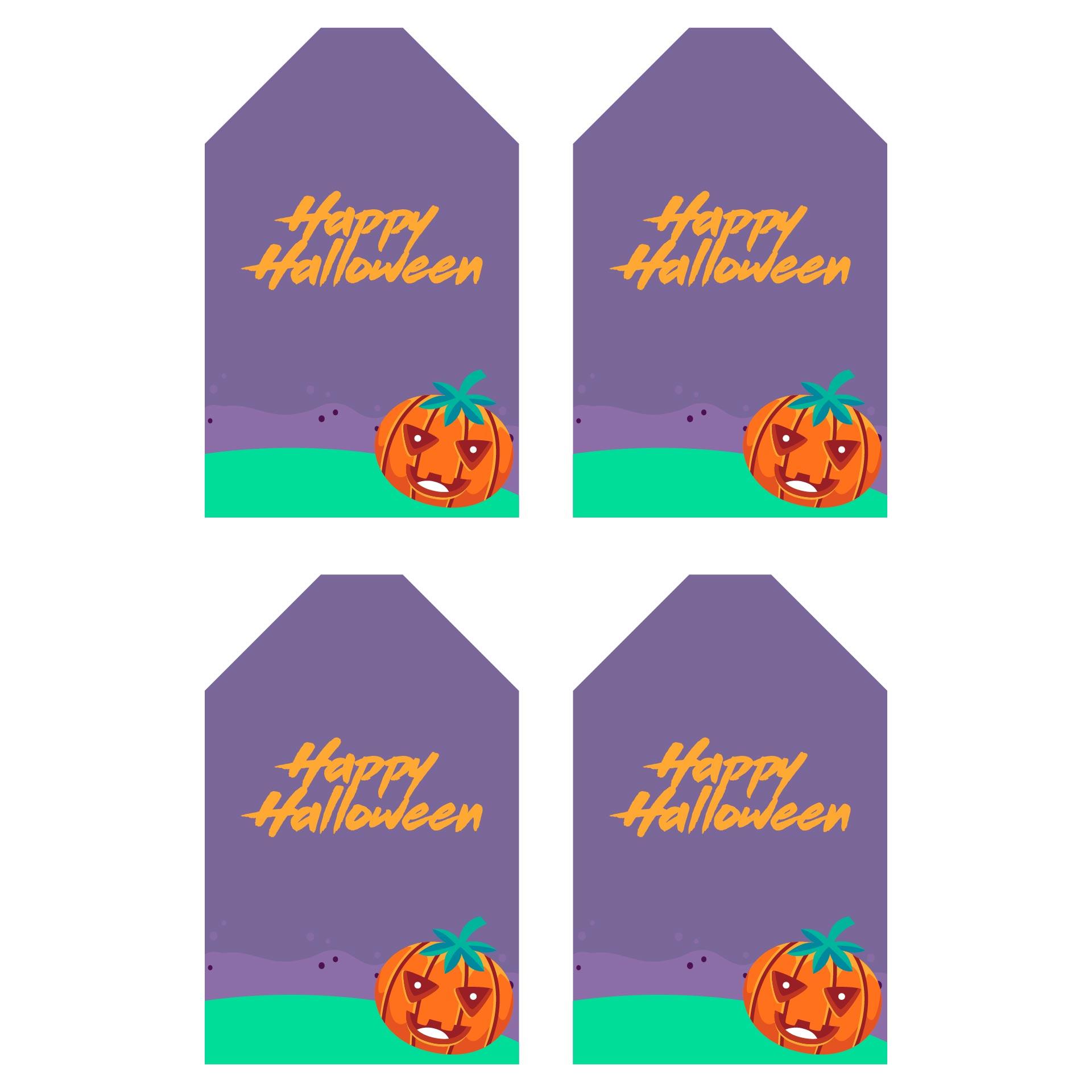 Happy Halloween Printable Labels