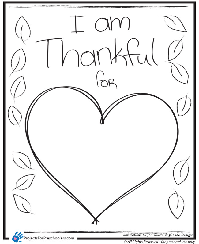 i am thankful for you coloring pages - photo #14