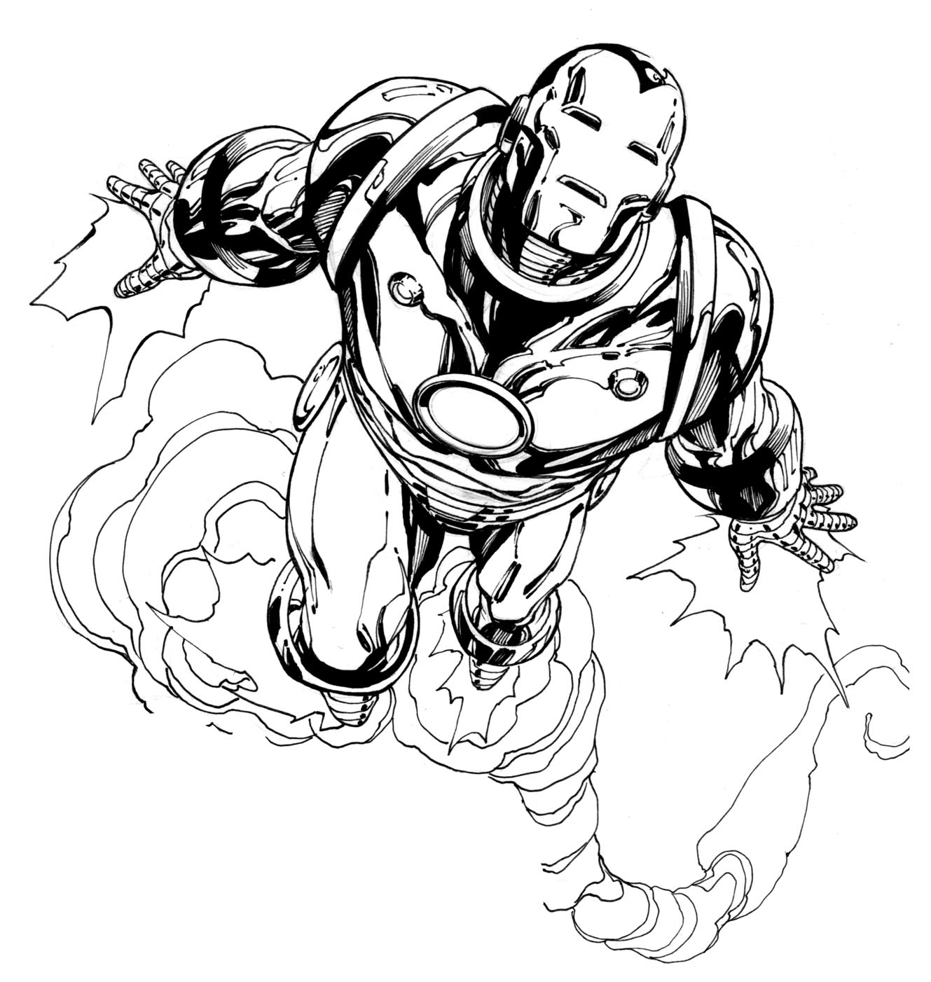 4 Images of Iron Man Coloring Pages Printable