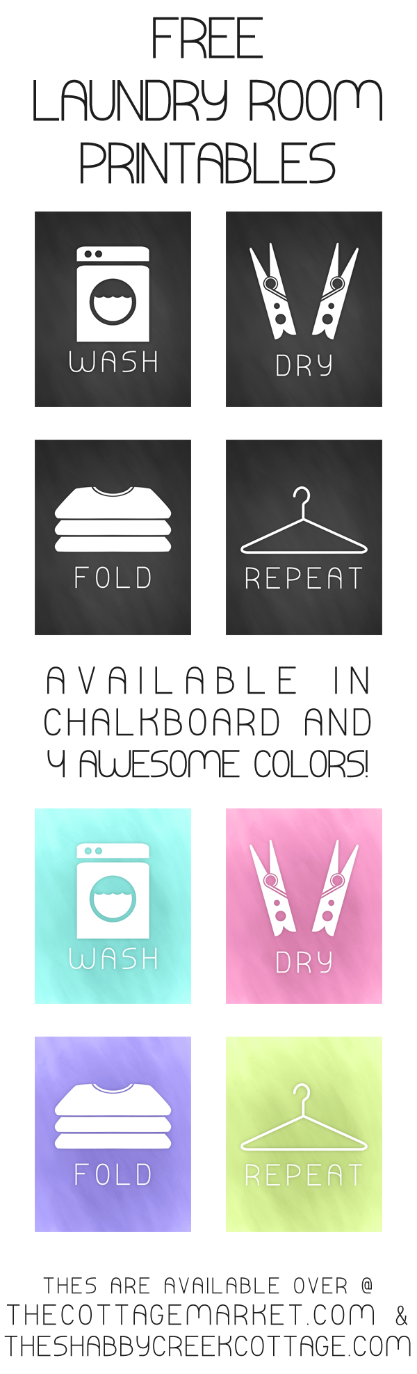 9 Images of Chalkboard Laundry Room Printables Free